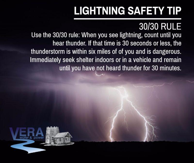 Lightning Safety Tip